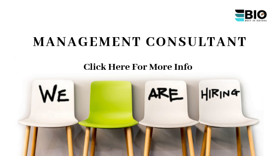 Management Consultant Job In Odisha