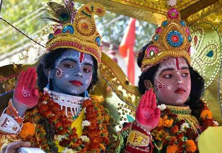 Lord Krishna and Lord Balaram @Bargarh Dhanu Yatra
