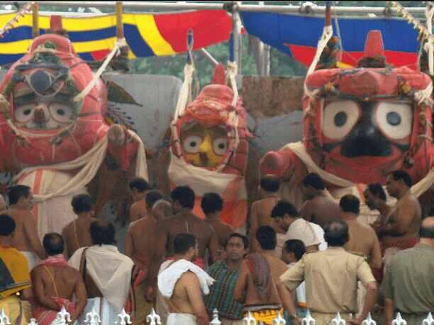 The three deities of Jagannath Temple