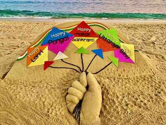 SAnd art Puri Sea Beach, Puri