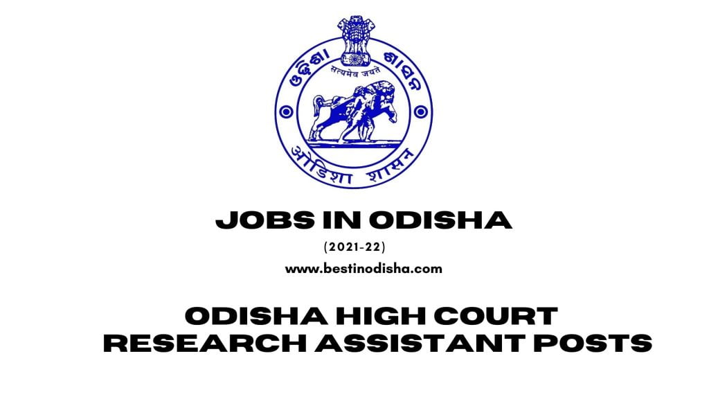 Odisha High Court Research Assistant Posts